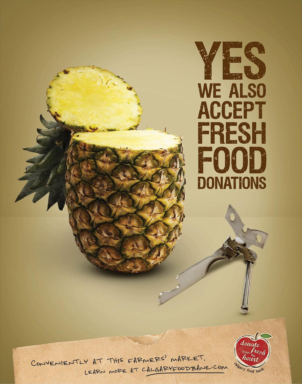 calgary foodbank ad pineapple