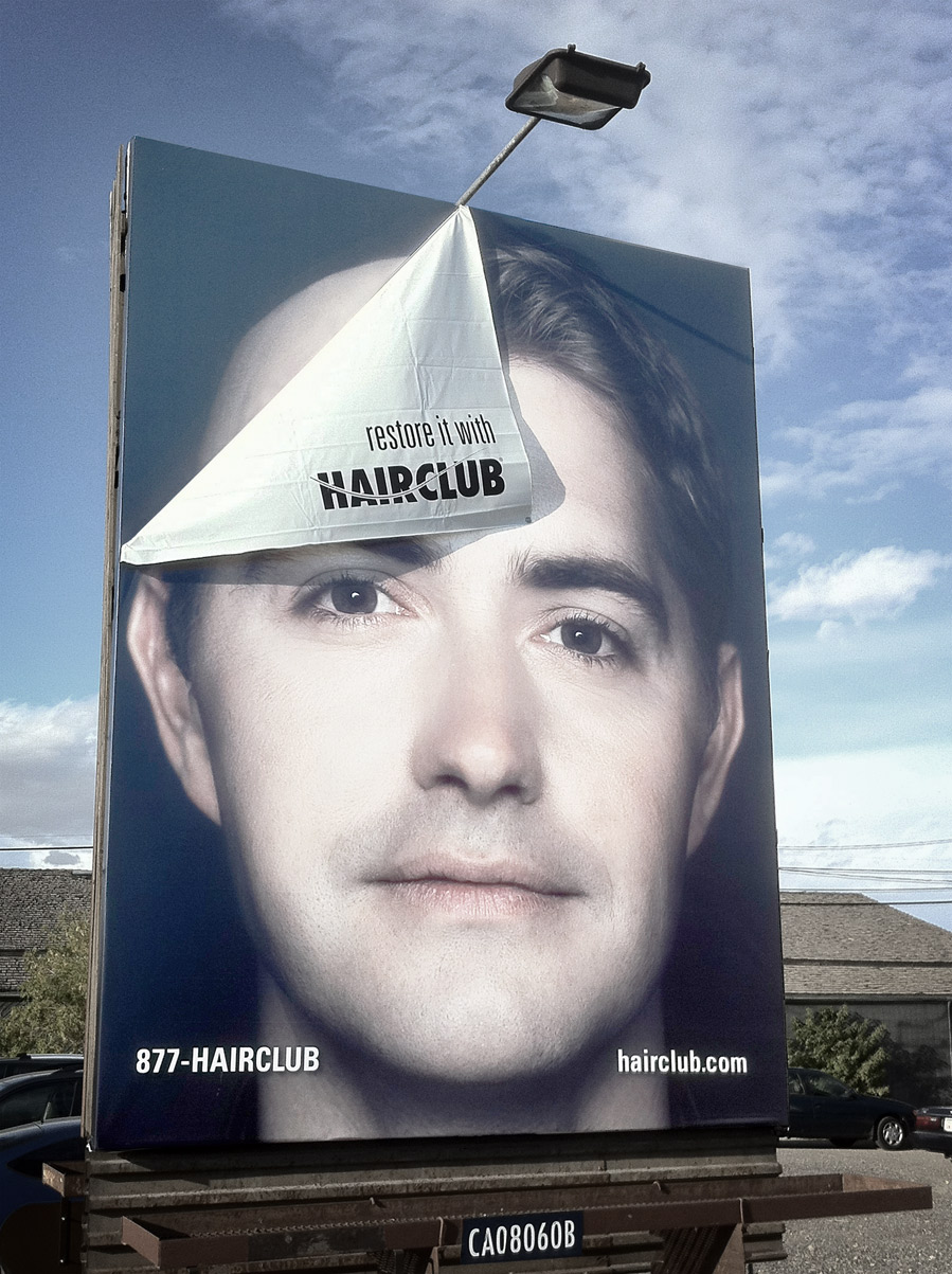 hair club billboard