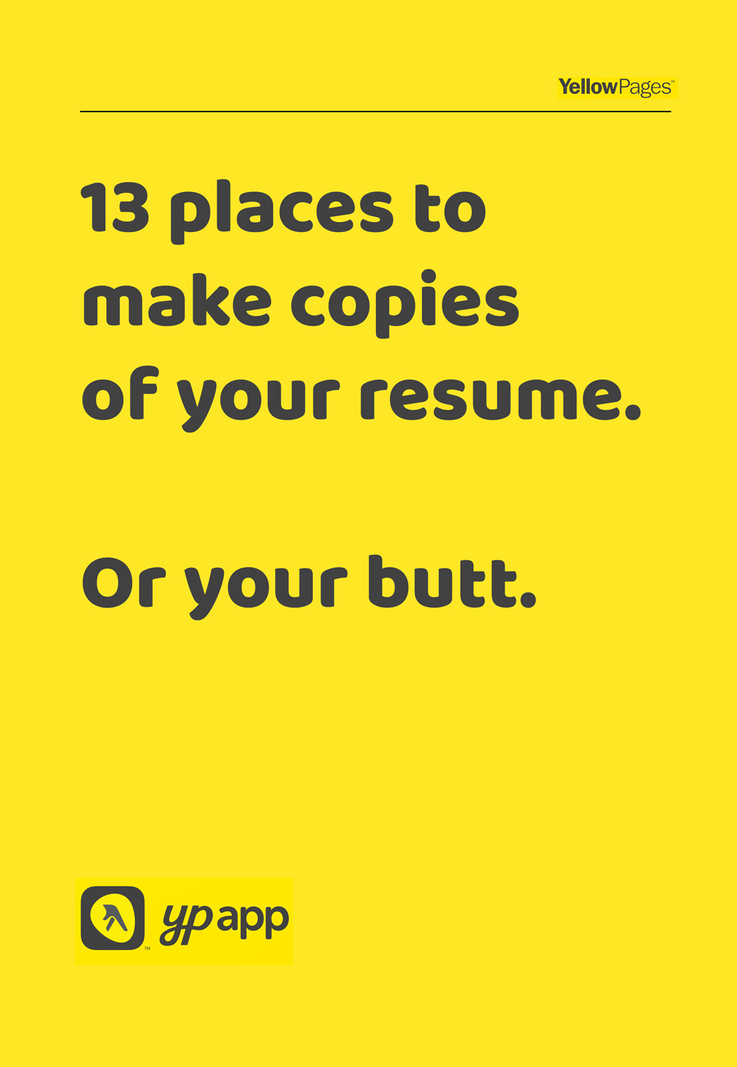 yellow pages ad photocopies