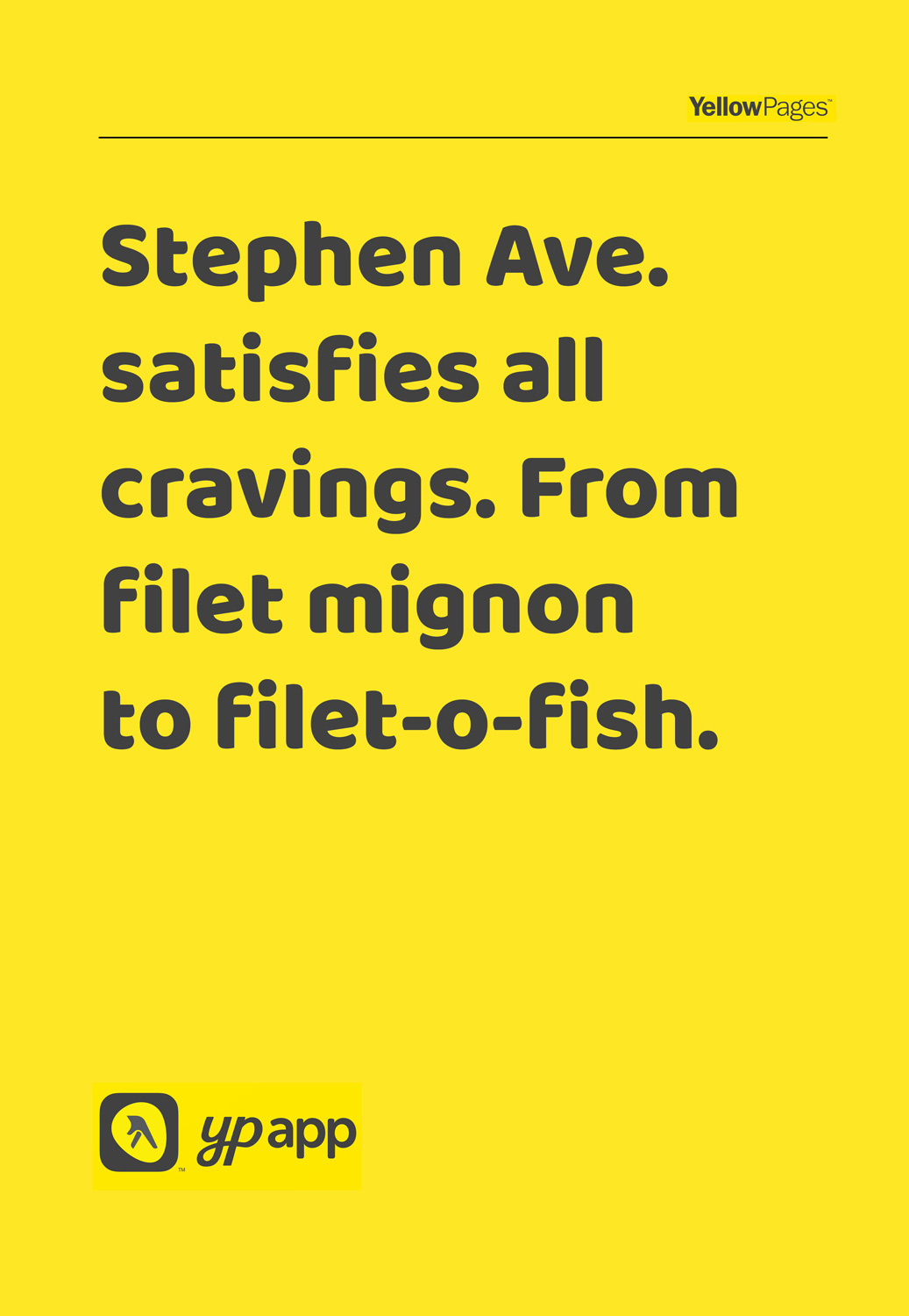 yellow pages ad Steven ave