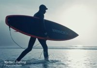 Surfer demonstrates grip