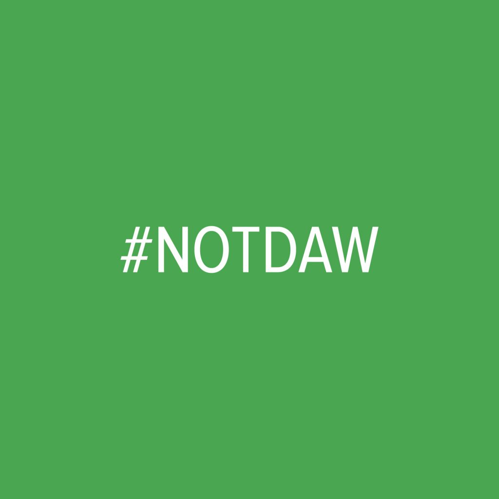 NOTDAW hashtag