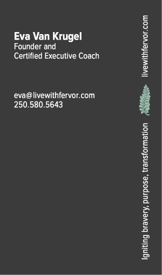 Live with Fervor biz card