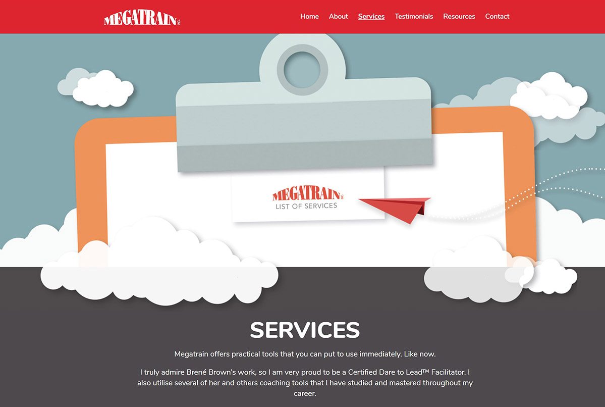 Megatrain services page