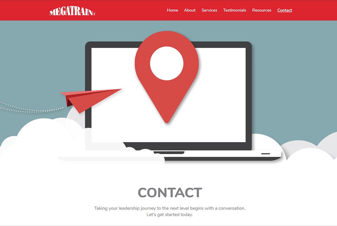 Megatrain contact page