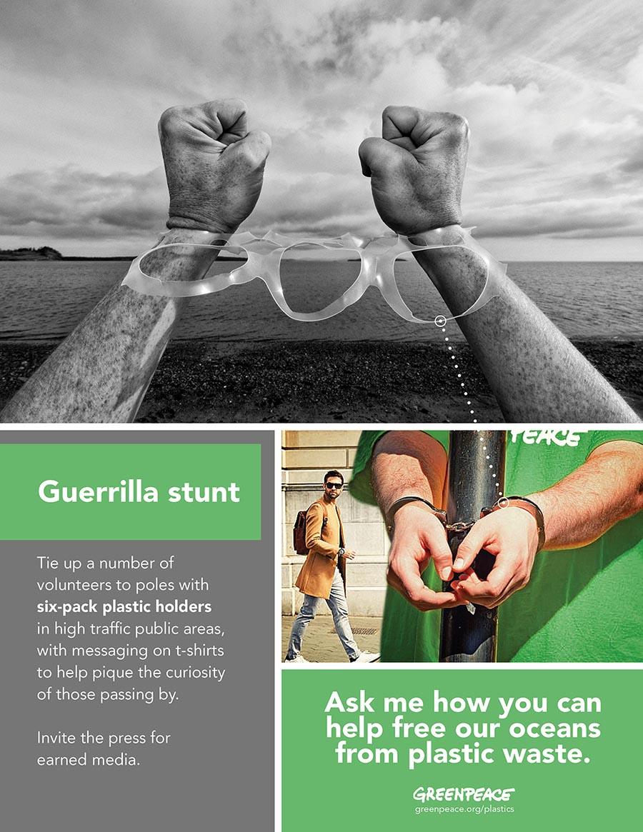 guerilla stunt for Greenpeace